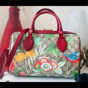 Gucci Tian GG Supreme Boston Bag *RARE*
